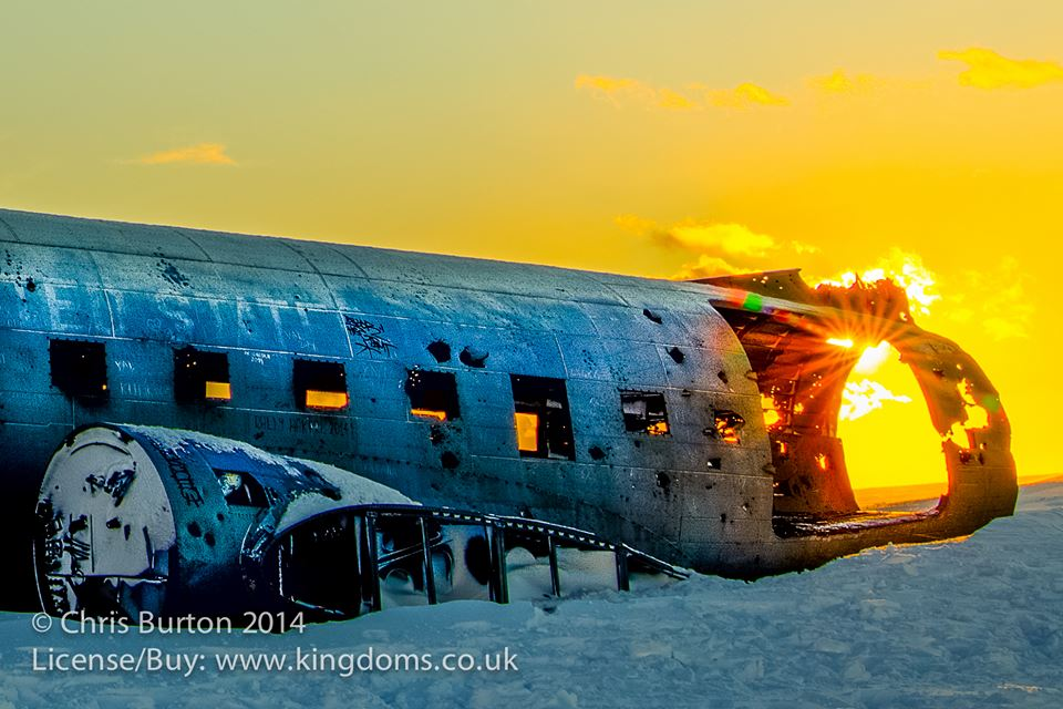 The DC-3 plane wreck on Sólheimasandur Beach, Iceland.
