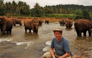 chris with elephants